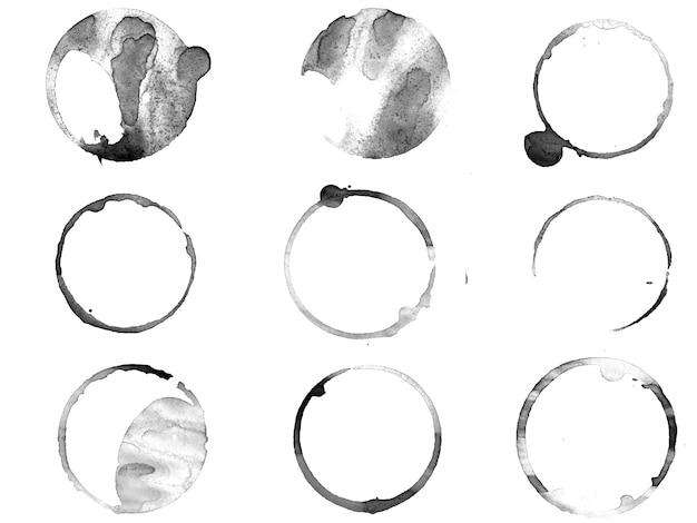 Чернила круги, изолированные на белом фоне