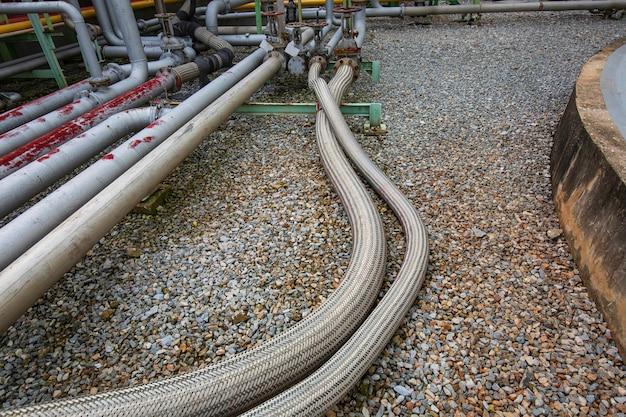 工業用化学薬品用のインレットパイプホースステンレス鋼。フランジ配管システムフロータンク用のフレキシブルホース。