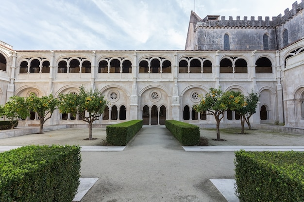 Inner courtyard garden of the monastery alcobaca