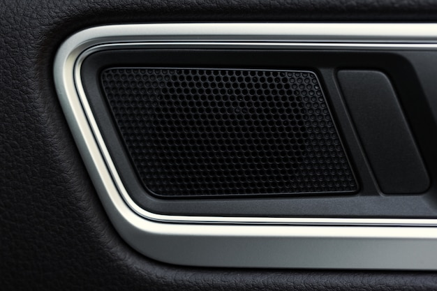 Inner door handle, modern car interior detail