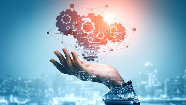 Innovation technology for business finance background