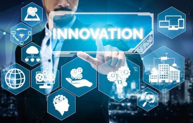 Innovation technology for business finance concept