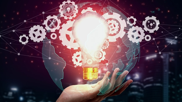 Innovation technology for business finance conceptual