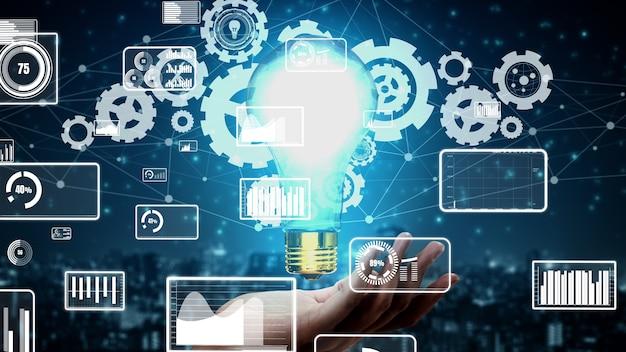 Инновационные технологии для бизнес-финансов концептуальные Premium Фотографии