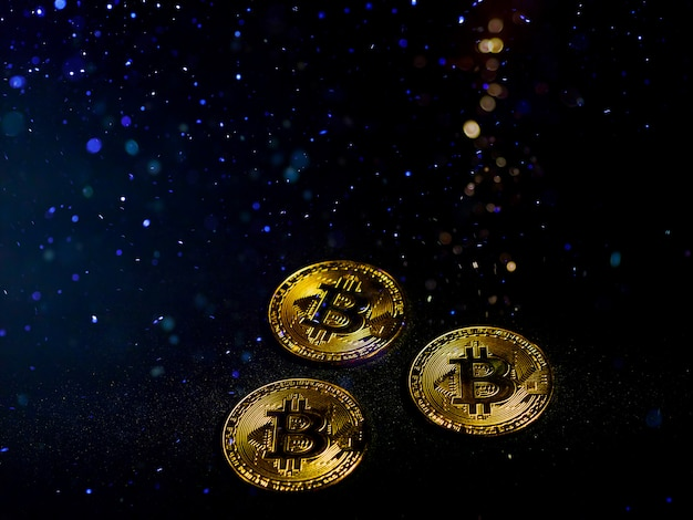 An innovative digital currency bitcion effect by great lighting effect.