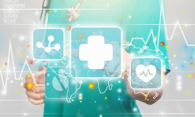 의학의 혁신적인 기술. 의료 혁신 정보 기술 통합.
