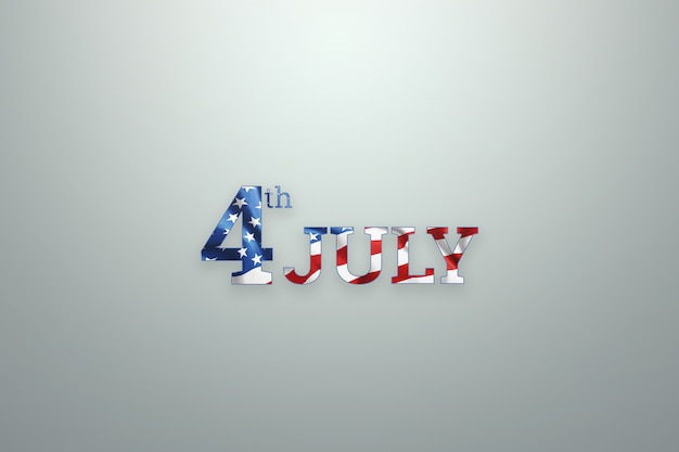 Inscription 4th of july on wooden background for usa independence day