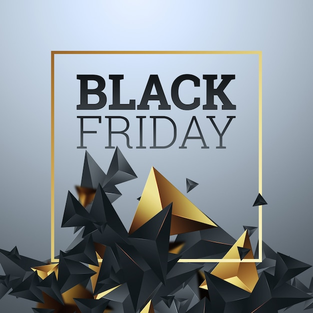 Inscription black friday on a light background