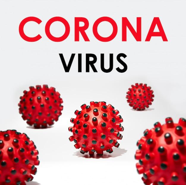 흰색 배경에 비문 coronavirus