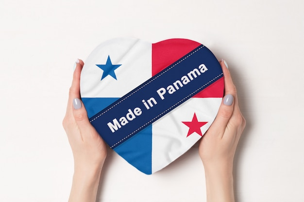 Inscription made in panama the flag of panama.
