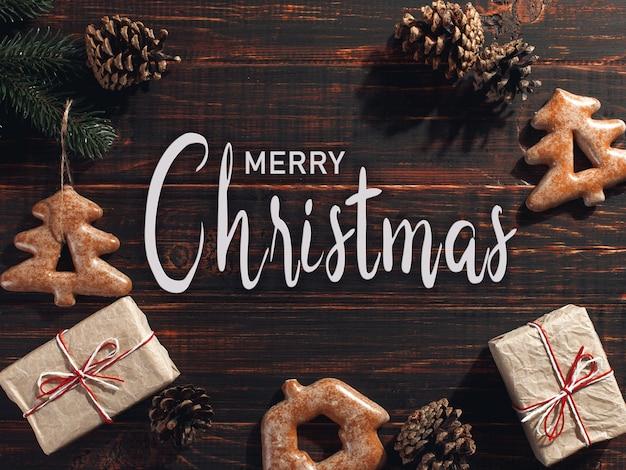 Inscription merry christmas