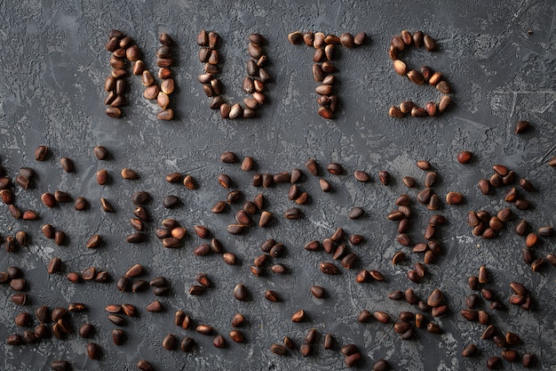 Inscription nuts, from different nuts.