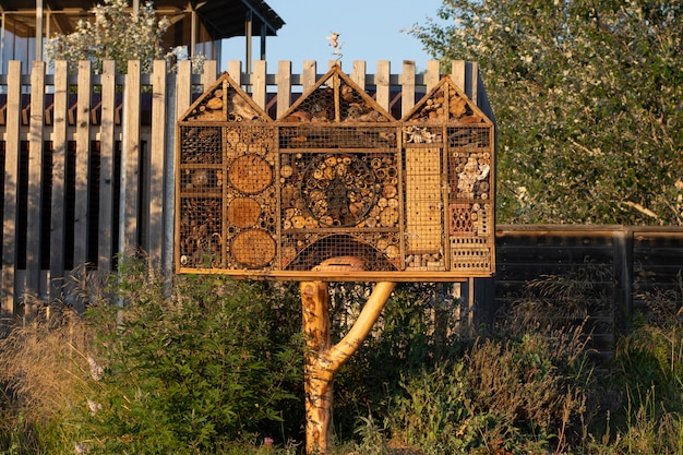 Insect hotel in the countryside