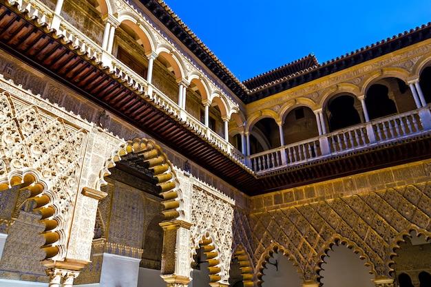 Inside the alcazar of seville, spain