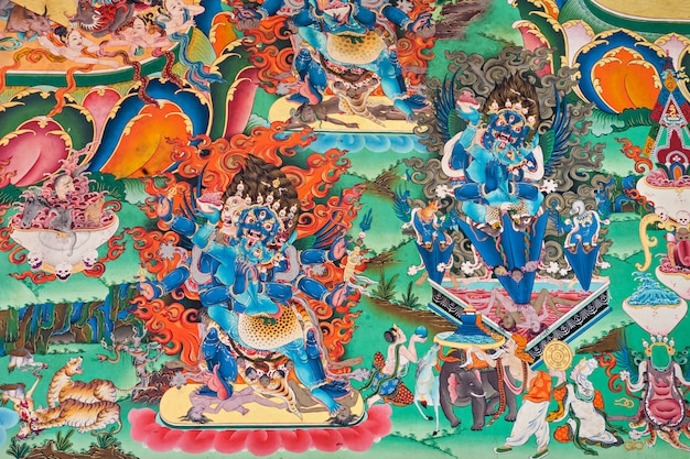 Inside buddhist temple