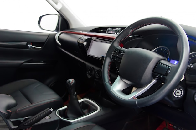 Inside the car cabin