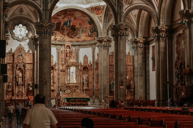 Inside a catholic church in mexico