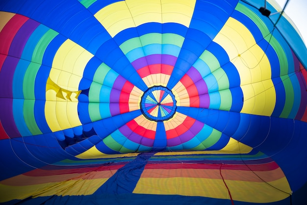 Inside of colorful of balloon