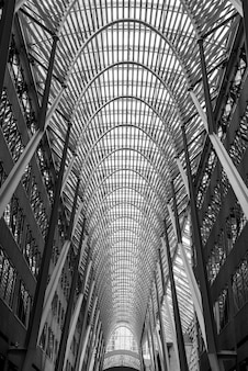 Inside of the famous brookfield place in toronto, canada
