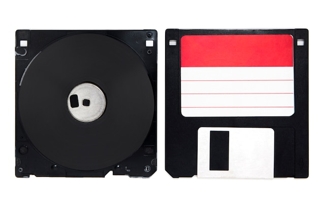 Inside of floppy disk