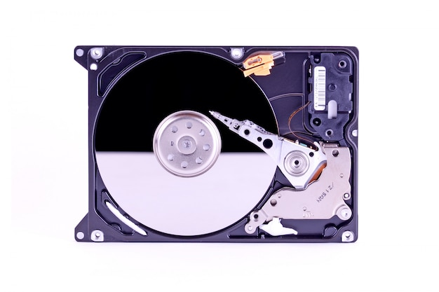 Inside harddisk drive