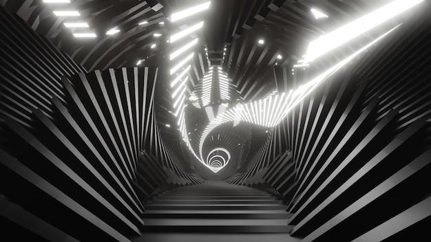 공상 과학 및 기술 혁신 장면의 벽지를 위한 iron hall 배경 내부