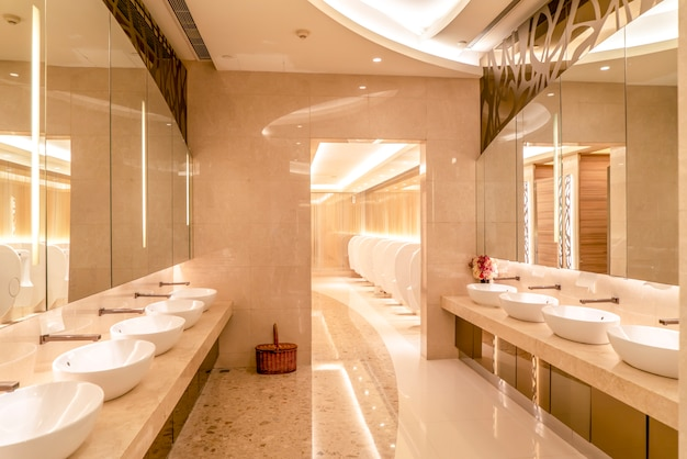 Inside view of the restroom of the shopping mall and hotel
