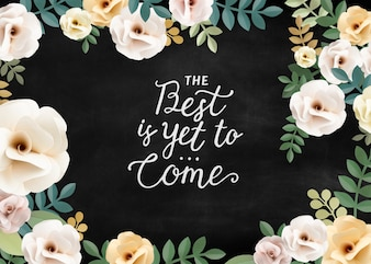 Inspiration Quotes Floral Patternt Concept