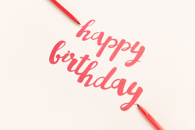 Inspirational quote 'happy birthday' for greeting cards and posters.