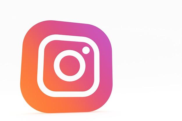 3d-рендеринг логотипа приложения instagram на белом фоне