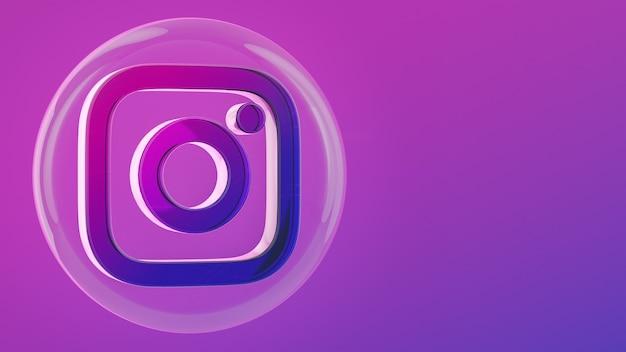 Instagram circle button icon