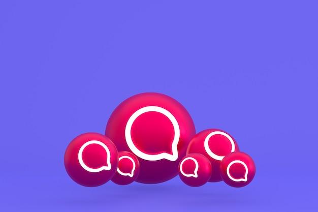 Рендеринг набора значков instagram на фиолетовом