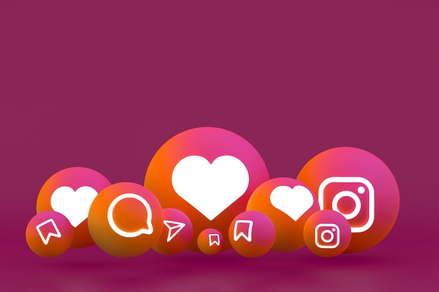 Instagram icon seting on red