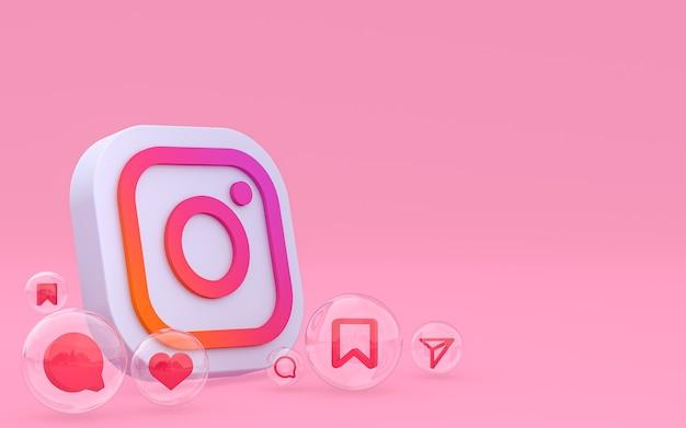 Иконки instagram 3d визуализации