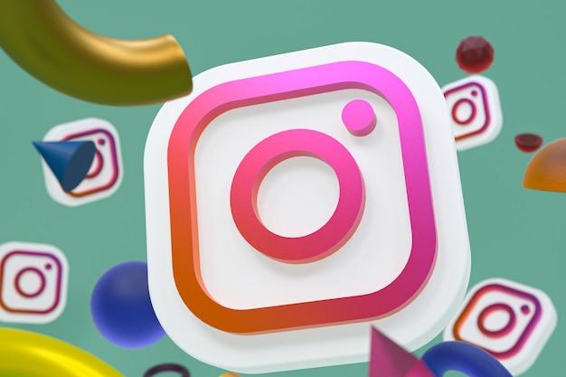Логотип instagram ig с элементами геометрии Premium Фотографии