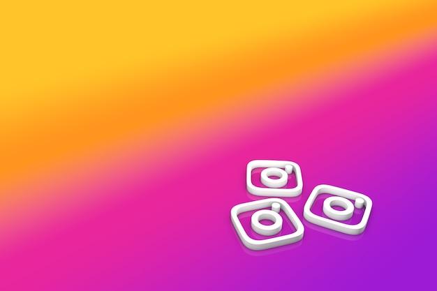 Instagram logo in 3d illustration