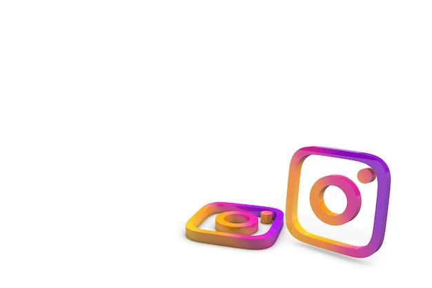 3d 그림에서 instagram 로고