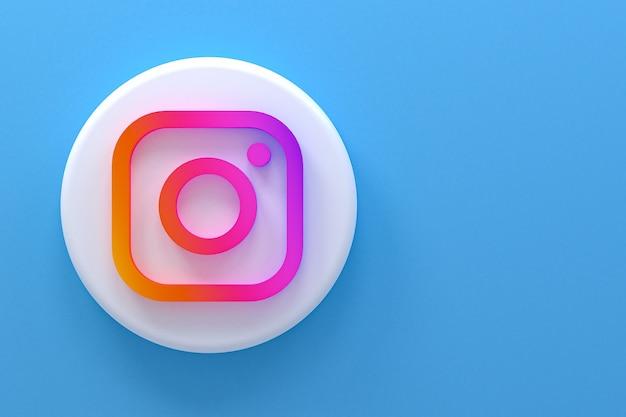 Instagram minimal logo 3d rendering