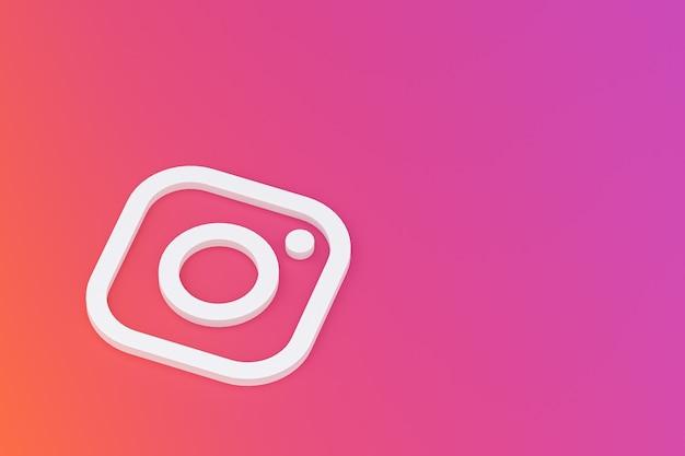 Минимальный логотип instagram крупным планом