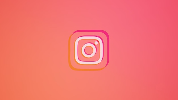 Instagram social media logo monochromatic
