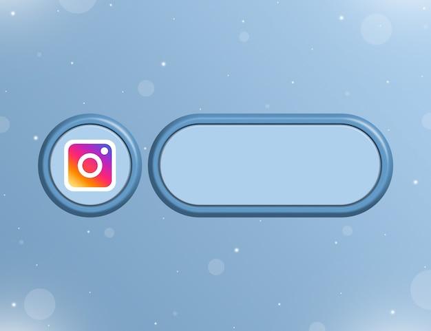 사용자 페이지 3d의 정보 또는 링크에 대한 빈 양식이 있는 instagram 소셜 네트워크 아이콘