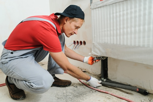 Installation of home heating.