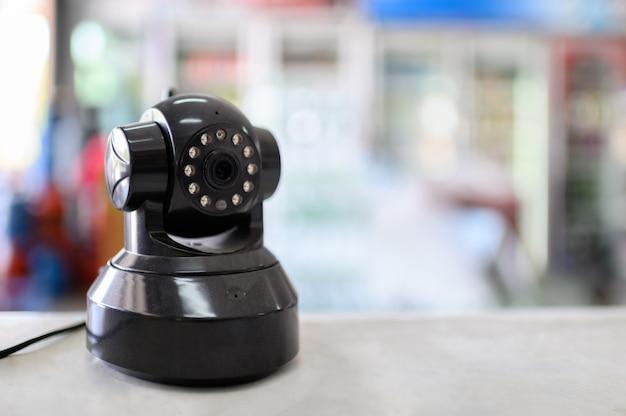 Installation of standing cctv camera for surveillance