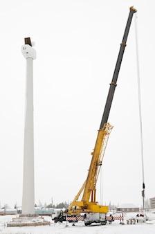 Installation of a wind turbine