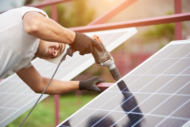독립형 태양광 태양광 패널 시스템 설치