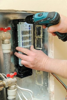 Installing switch for a home heating system.