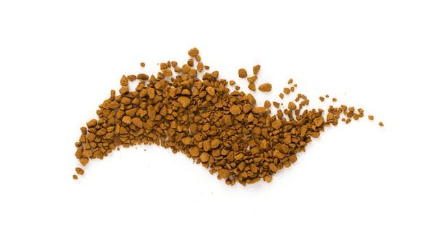 Растворимые кофейные зерна изолированные