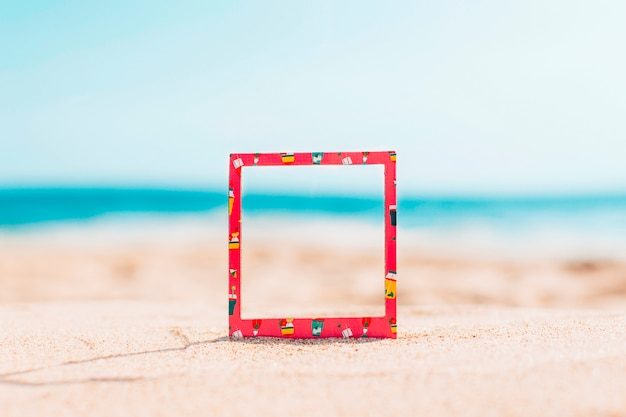 Instant frame with summer pattern and space for text