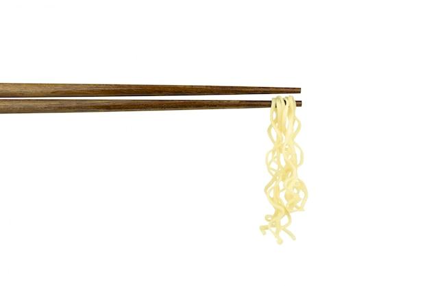 Instant noodles on chopsticks