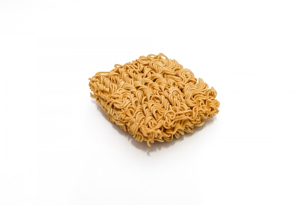Instant noodles isolated on a white background.